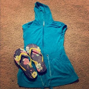Girls Justice Turquoise Swim Cover Up